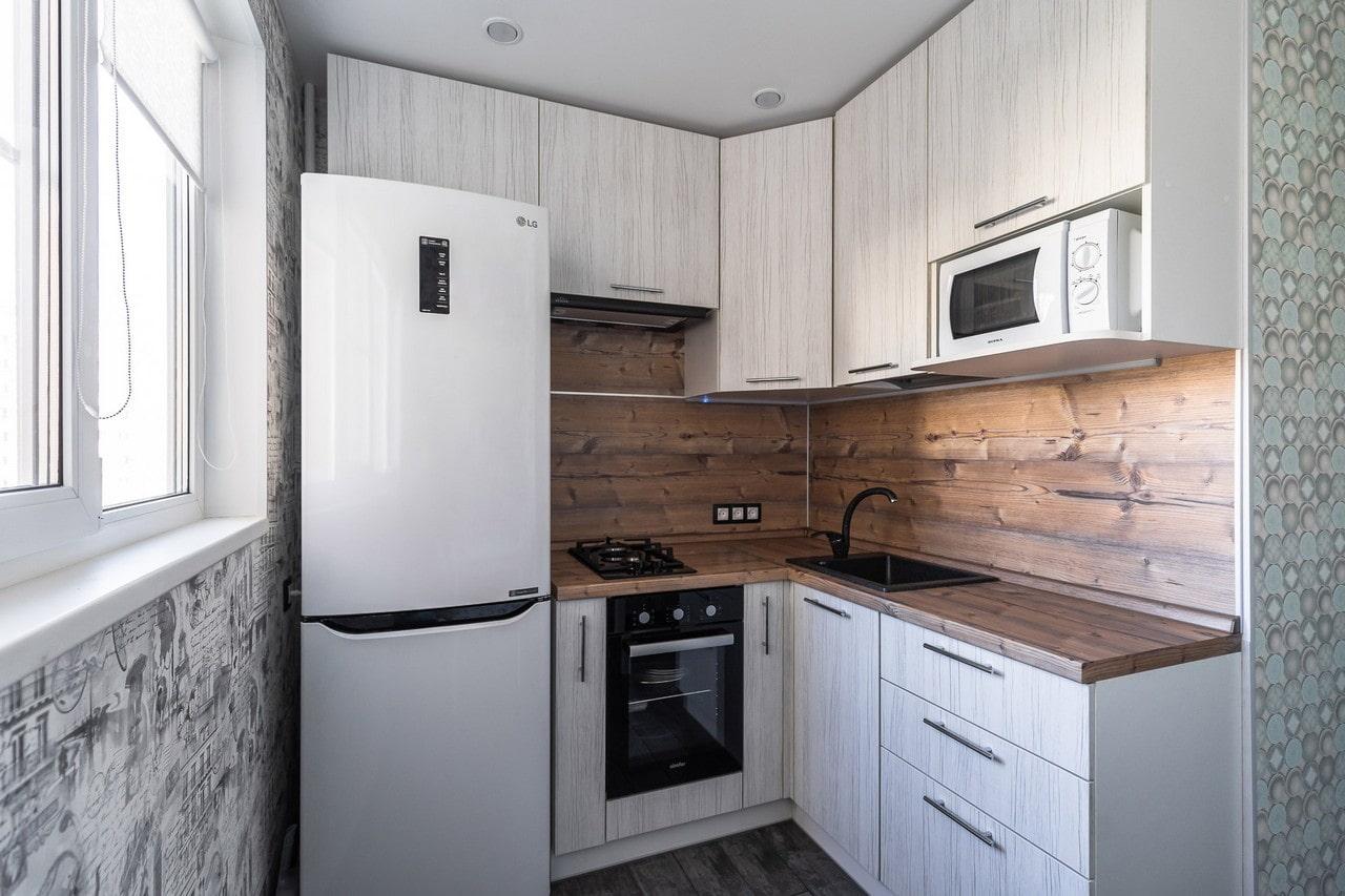 Отделка кухни (53 фото): чем отделать стены, варианты, дизайн, современные материалы, идеи в квартире, видео