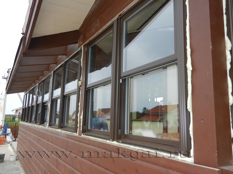 Американские окна. установка вертикально-раздвижных окон