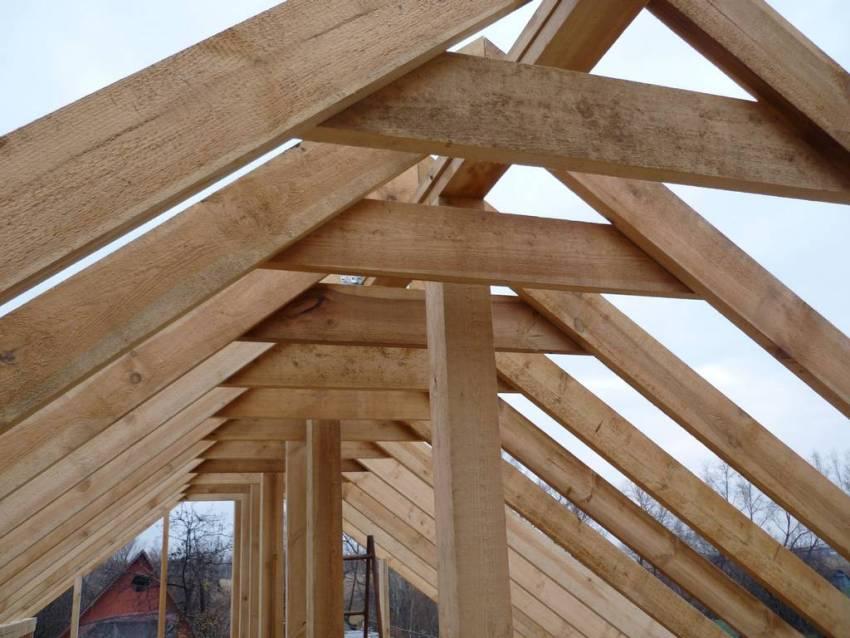 Крыша двухскатная своими руками: инструкция по возведению