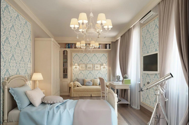 Шторы в комнату с голубыми акцентами. особенности и вариации.