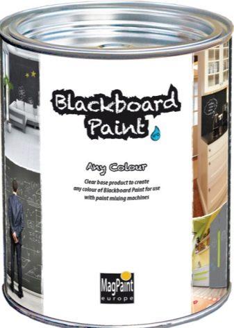 Грифельная краска для рисования мелом на стенах и дизайна