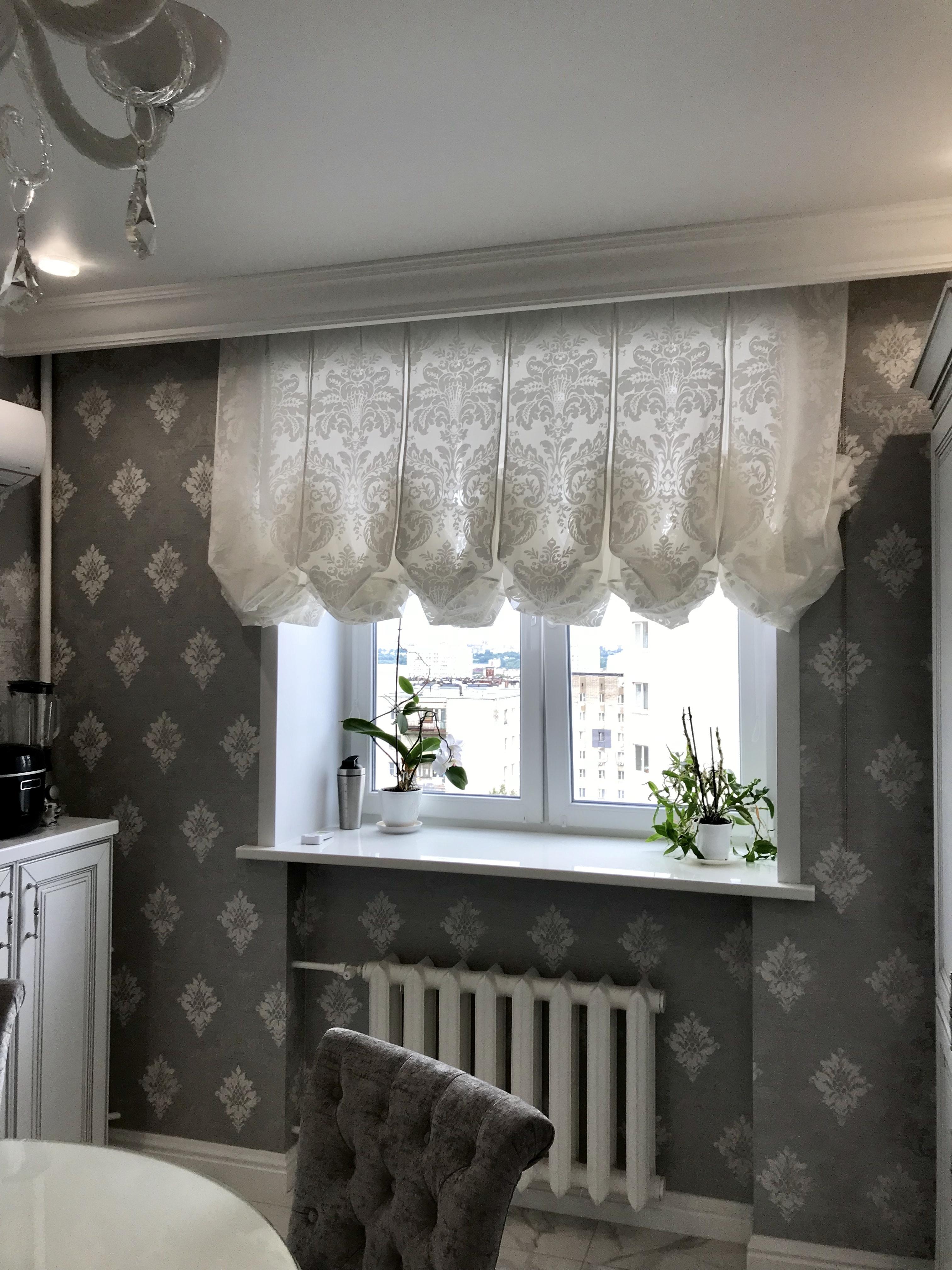 Шторы на одну сторону на кухню, дизайн кухонных ассиметричных штор с ламбрекеном своими руками