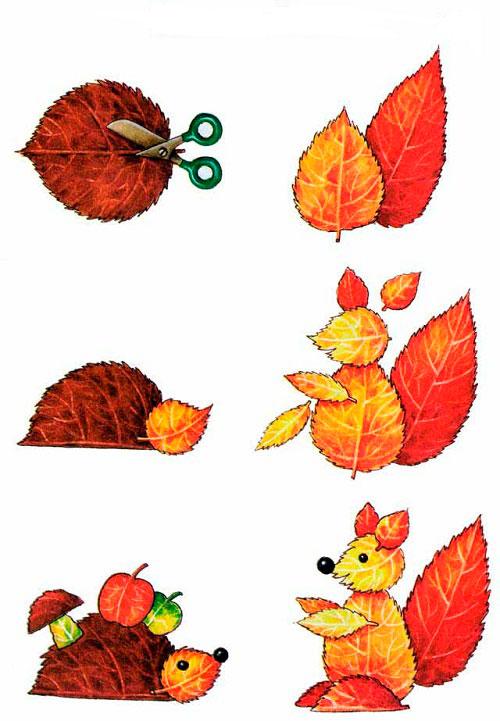 Осенние поделки из листьев - 135 фото и видео инструкция создания красивых поделок