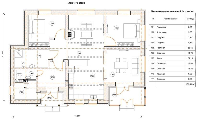 ширина комнаты
