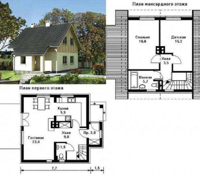 Дом 7 на 9 - 80 фото-идей создания стильного дизайна и выбор материала для отделки