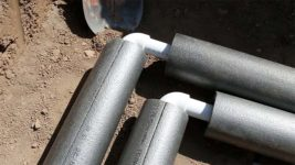 Как и чем утеплить водопроводную трубу на улице?
