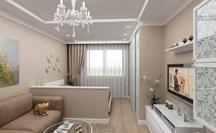 Зонирование комнаты на спальню и гостиную: интересные особенности