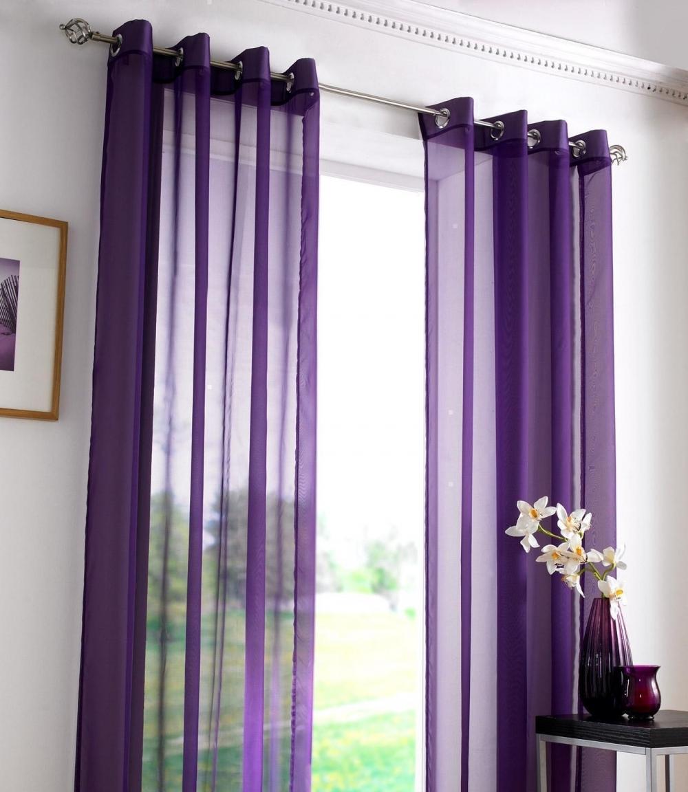 сиреневые шторы в интерьере фото спальня