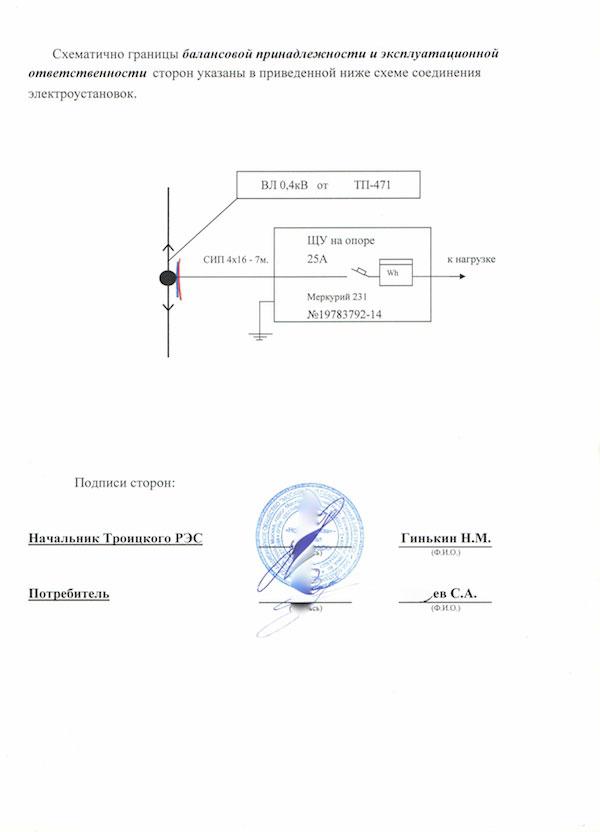 Акт разграничения принадлежности водопроводных сетей