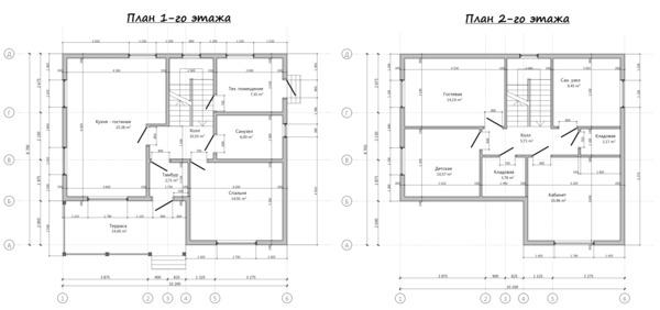 Проекты домов 6 на 6: одно и двухэтажные – коттеджи и примеры планировки