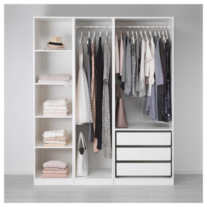 Как рационально использовать в интерьере гардероб от икеа, 14 фото