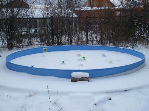 нужно ли убирать каркасный бассейн на зиму