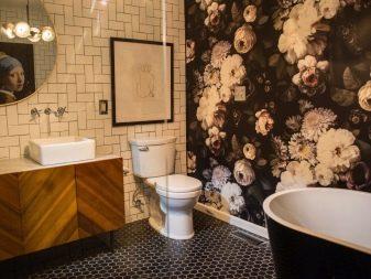 покрытие для стен в ванной вместо плитки
