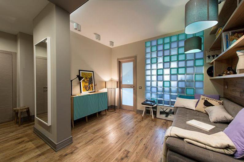 Стеклоблоки в интерьере квартиры +75 фото идей применения