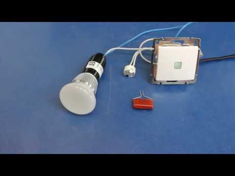моргает светодиодный светильник