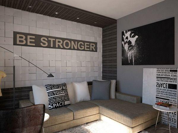 комната юноши в современном стиле