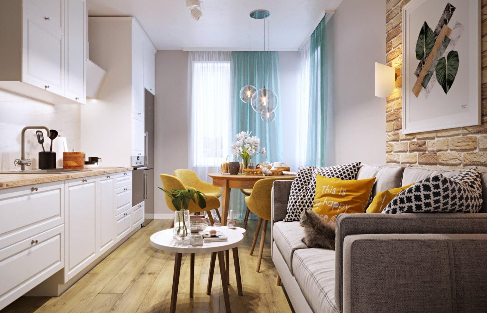 Кухня-гостиная 16 кв. м: дизайн, фото интерьеров, планировка