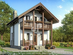 проект второго этажа частного дома
