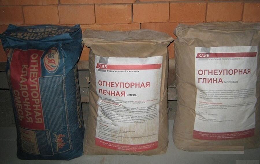 Состав раствора с шамотом для кладки печи, применение шамотной глины