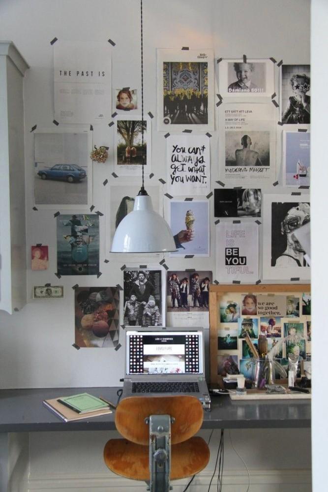 коллаж из фото на стене