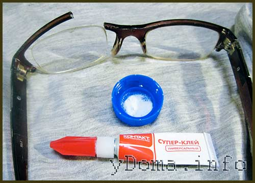 Как склеить очки из пластика?