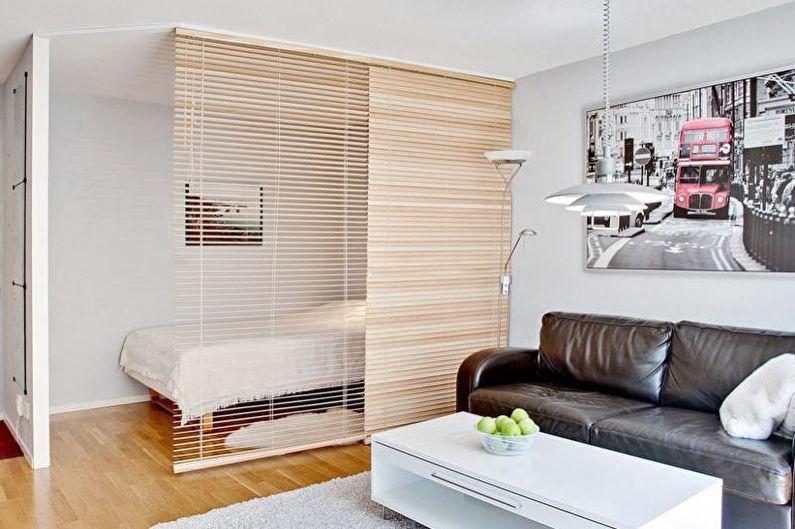 зонирование гостиной и кабинета