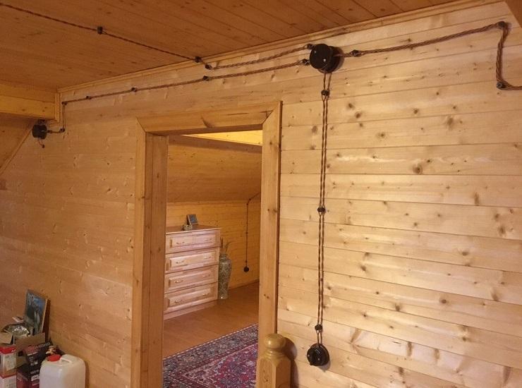 Ретро проводка в деревянном доме своими руками