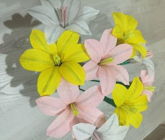 Как сделать цветы из гофрированной бумаги - 130 фото красивых и оригинальных вариантов изготовления цветов