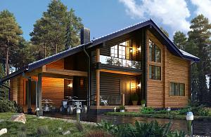 Дома из клееного бруса: проекты, отзывы, цена