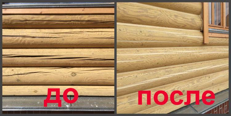 акриловый герметик для заделки швов между бревнами