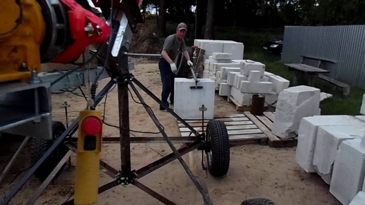 самодельный подъемный кран для строительства