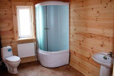 Ванная комната в деревянном или каркасном доме