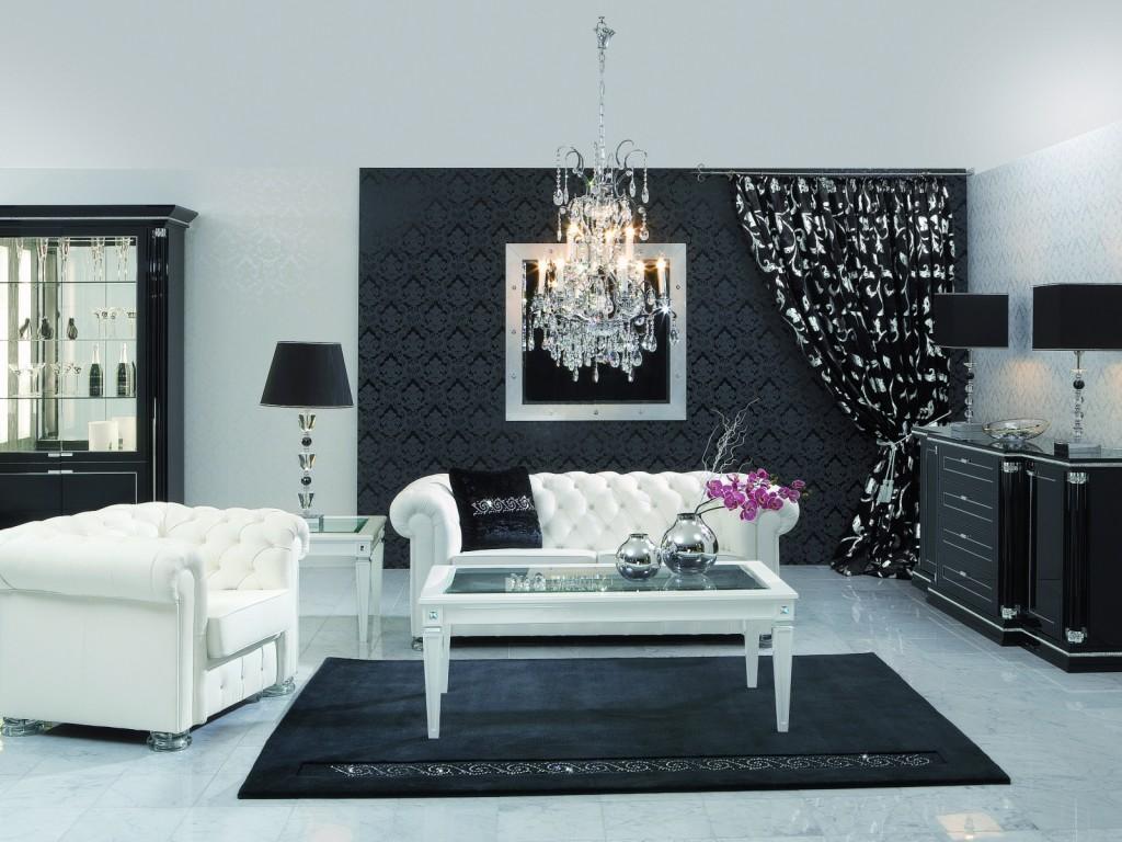 Черно-белые обои: монохромный контрастный декор для стен
