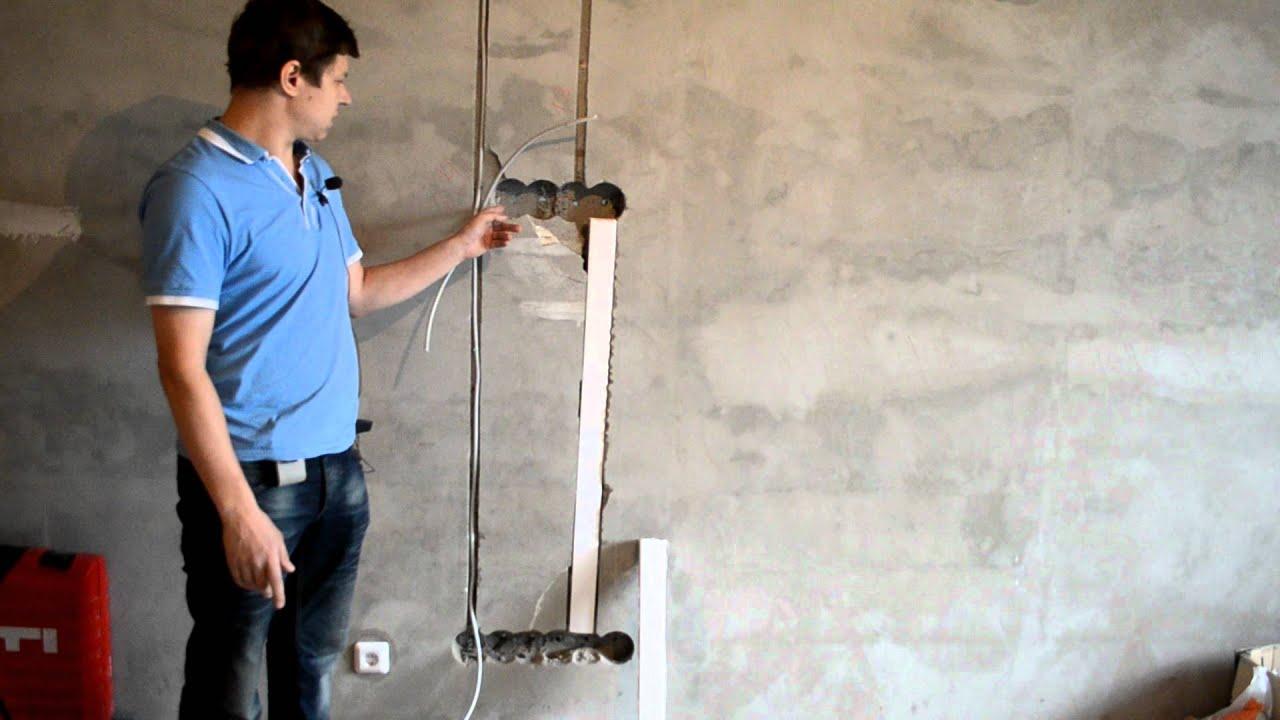 Как провести кабеля от антенны к телевизору в квартире