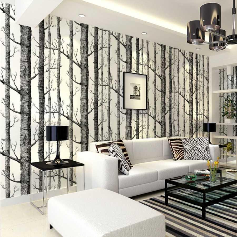 Комбинирование обоев в гостиной – изюминка современного дизайна