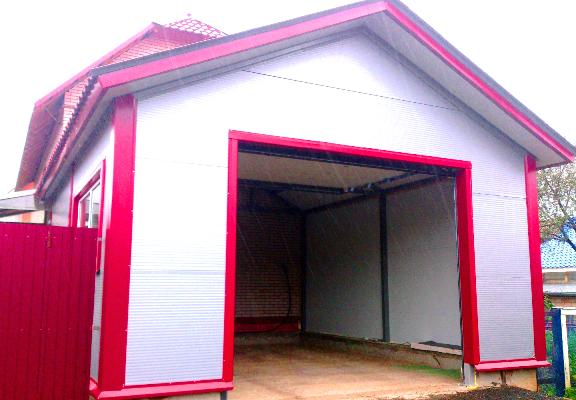 строительство гаража из сэндвич панелей