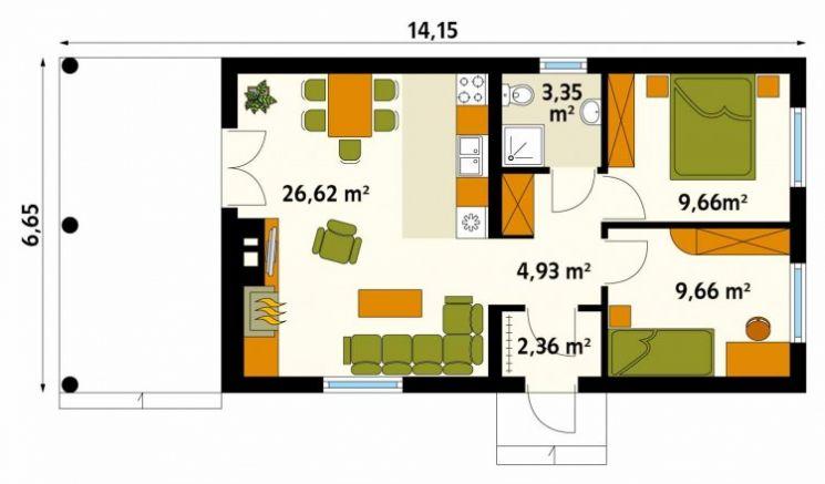 Планировка дома 6 на 6 с мансардой: чертежи и внутренняя планировка с лестницей, двухэтажный проект - 25 фото