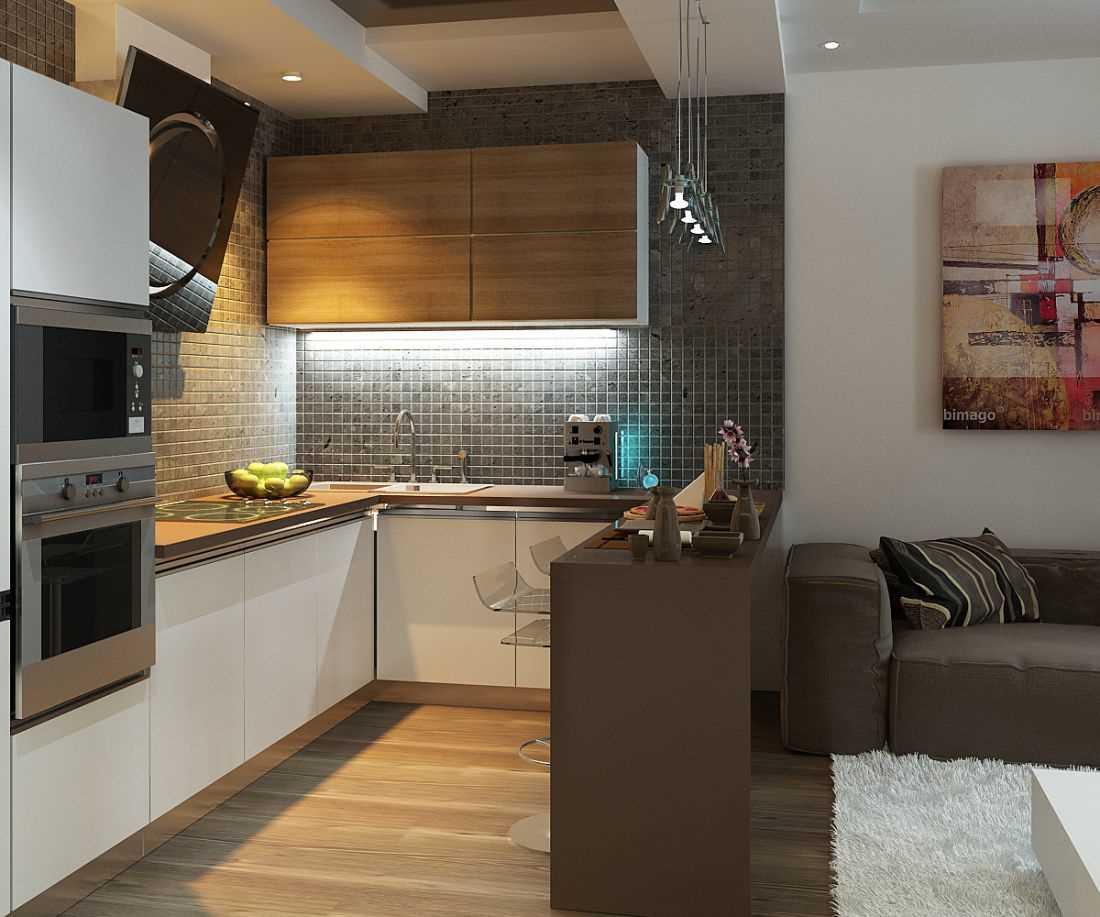 Дизайн кухни 14 кв м - интерьер с диваном и без, с балконом и без