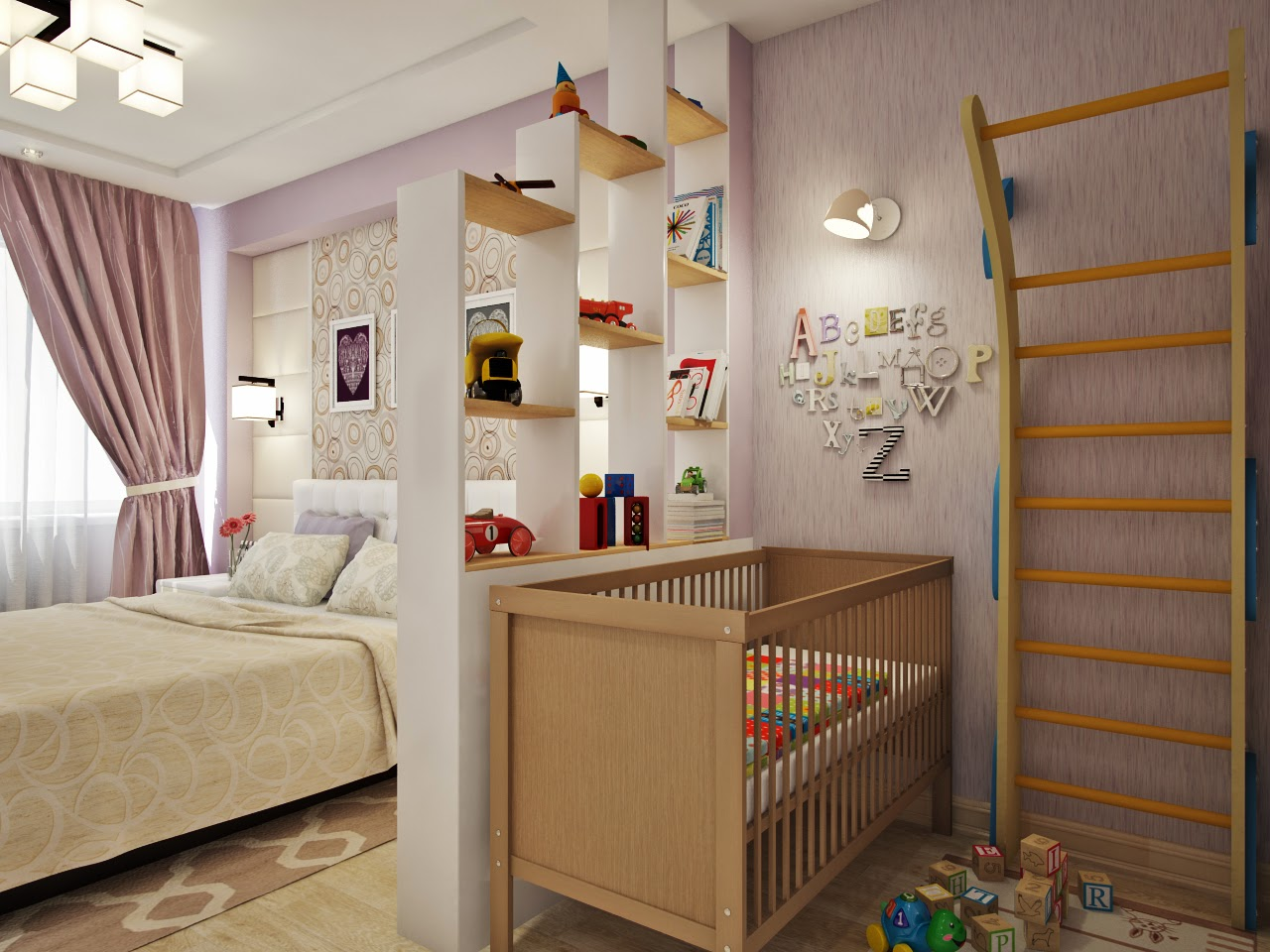 гостиная совмещенная с детской
