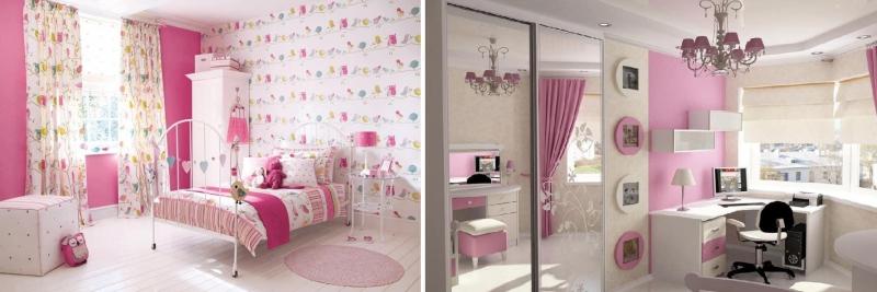 Обои для стен розовые: можно ли применять в спальне светлые молочные обои с розовым оттенком и цветами, и как правильно оформить пространство в интерьере небольшой комнаты
