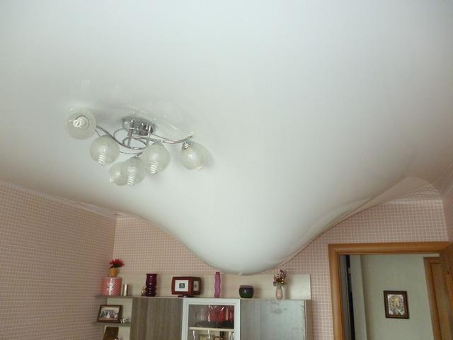 как демонтировать натяжной потолок