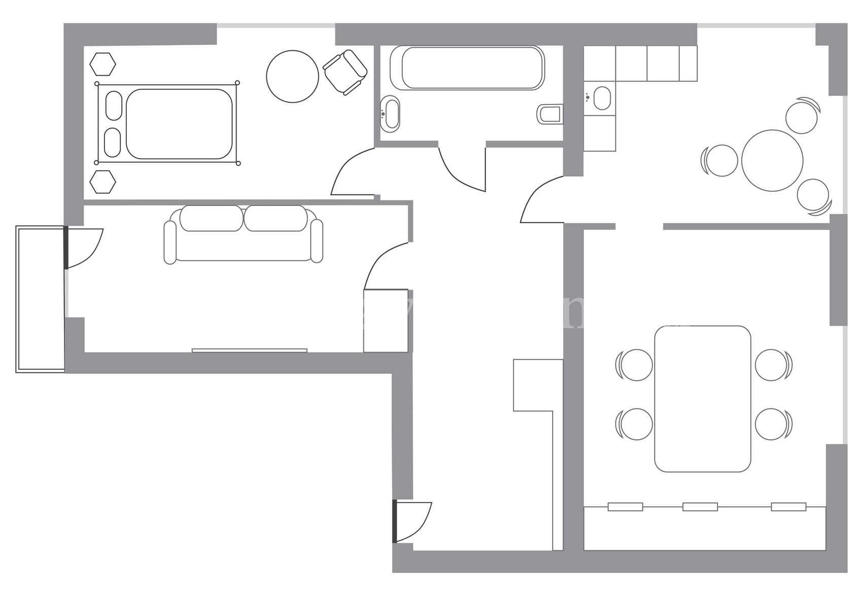 проект г образного одноэтажного дома