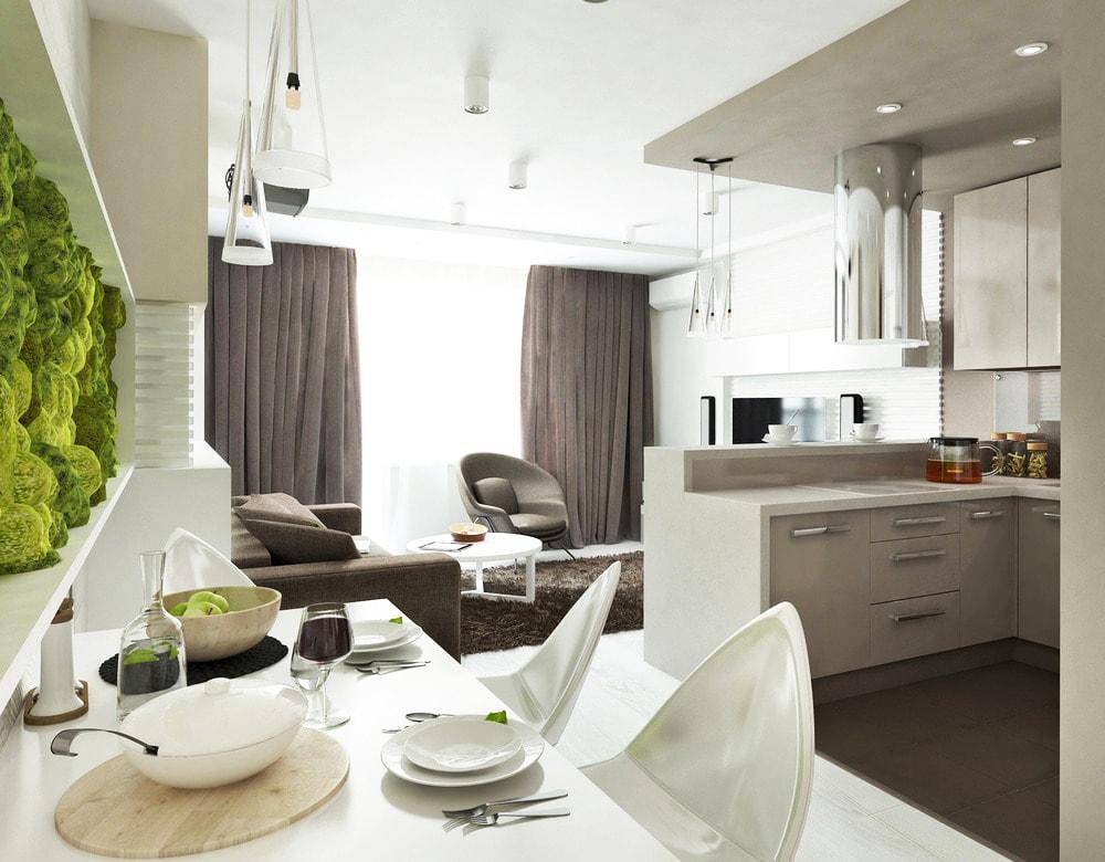 Кухня-гостиная 15 квадратов: варианты дизайна и планировки