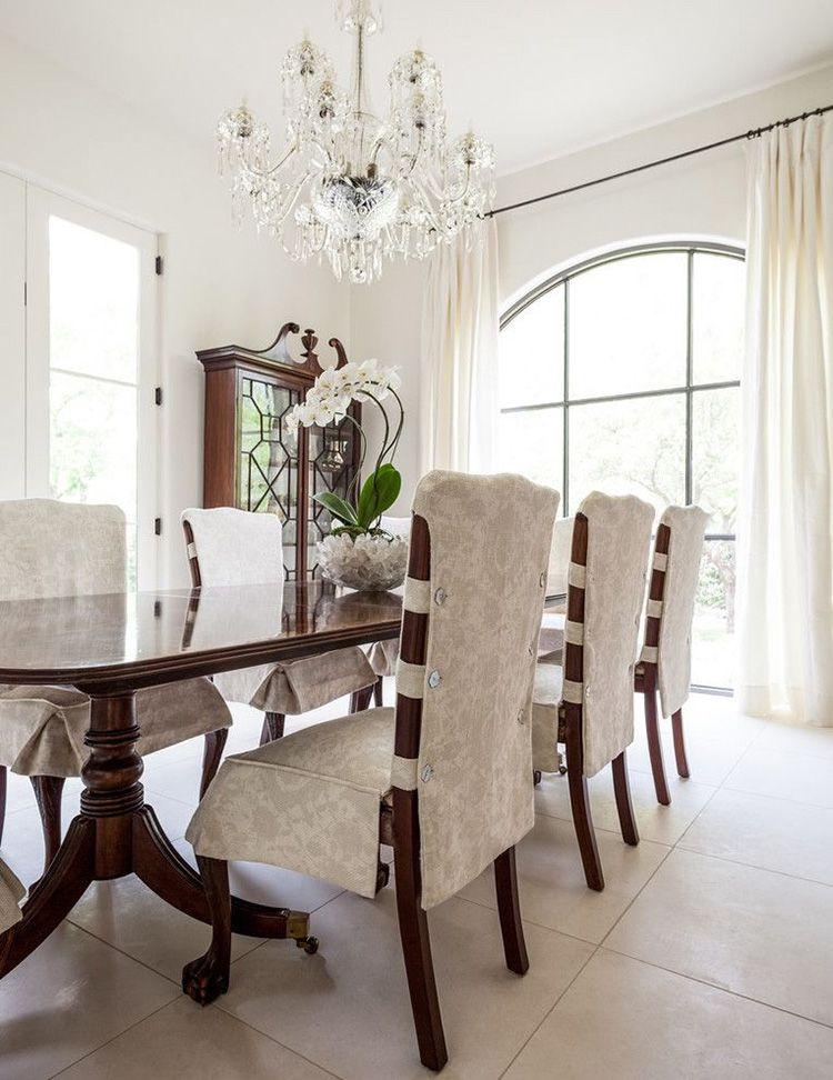 Удобные и современные чехлы для стульев на кухню