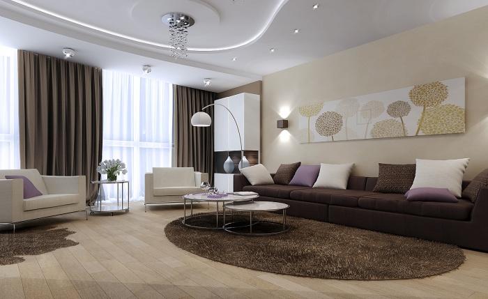 красивые гостиные в современном стиле