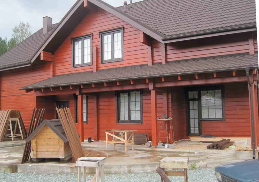 100 вариантов дизайна: фасады домов коричневого цвета на фото