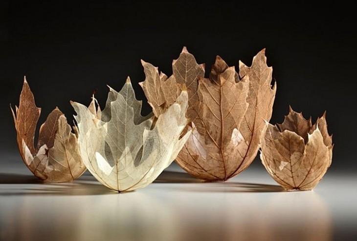 Идеи декора из сухих листьев свомими руками - фото примеров