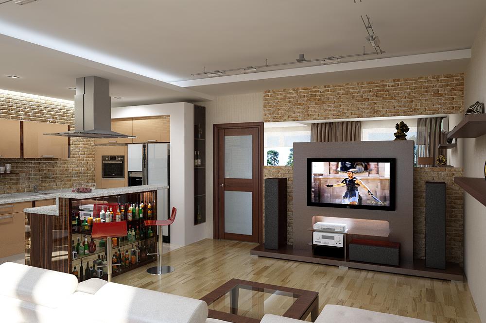 кухня в маленькой студии
