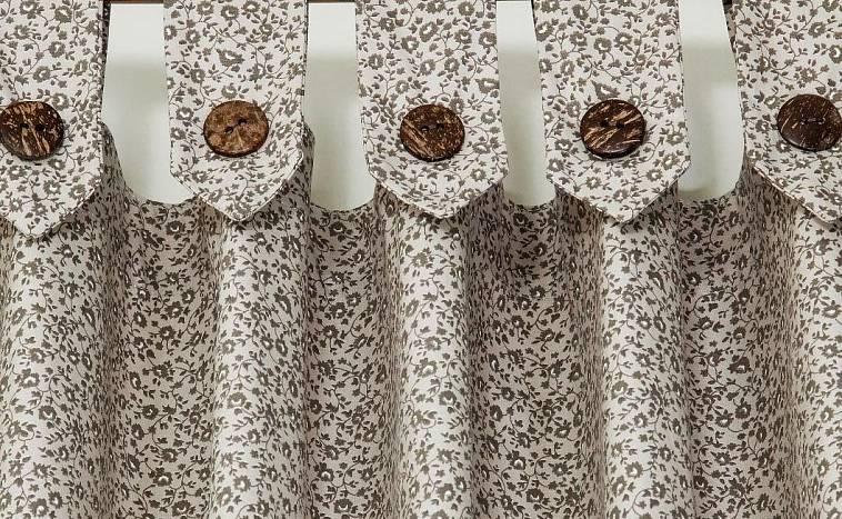 шторы на петлях из ткани
