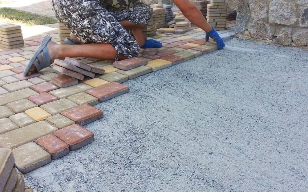 укладка плитки на песок без цемента